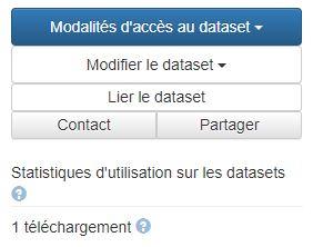 bouton d'action Dataset