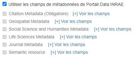 héritage des métadonnées du dataverse parent