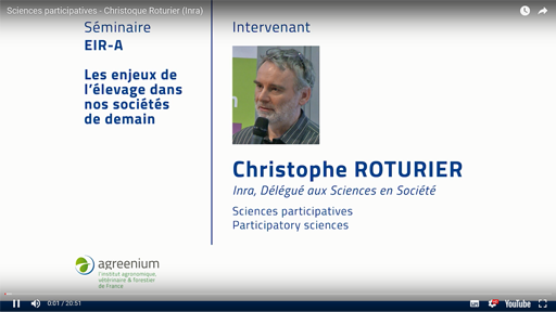 Intervention de Christophe Roturier à l'Ecole de recherche internationale d'Agreenium, le 22 mars 2017