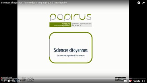 Présentation de Mathieu Andro : Le crowdsourcing appliqué à la recherche scientifique