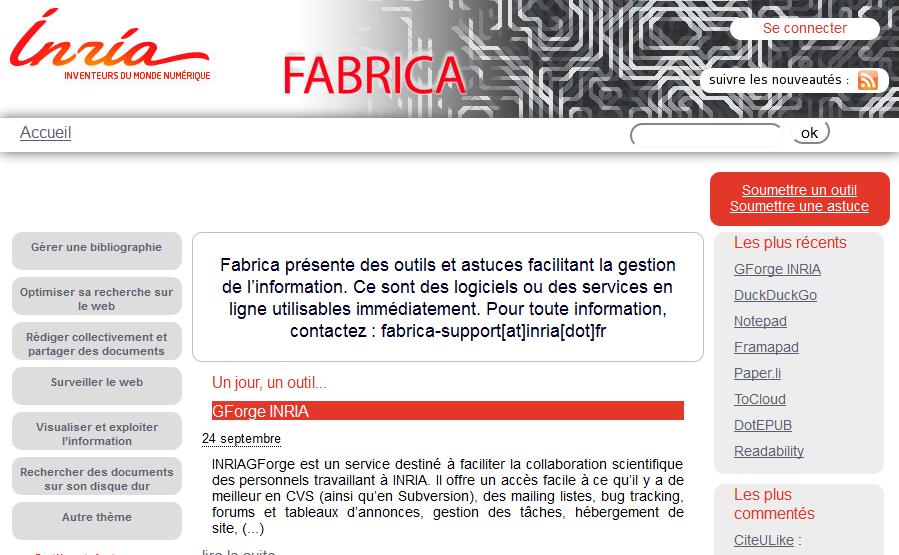 image du site Fabrica de l'INRIA